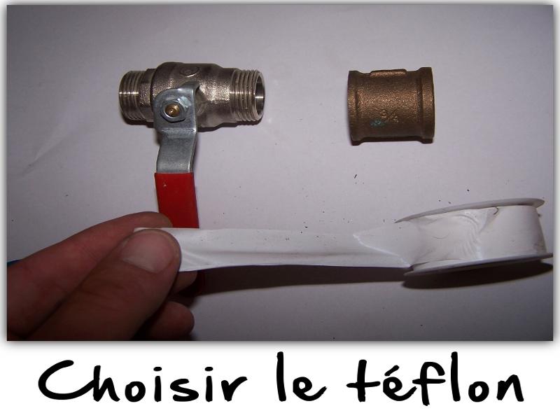Choisir le téflon adapté : largeur et type de fluide.