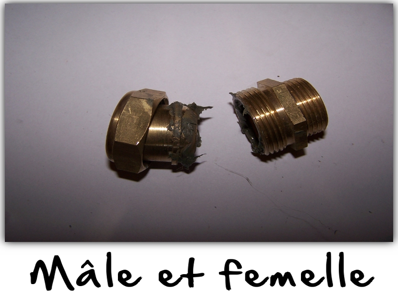 Graisser la partie mâle et femelle.