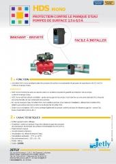 Hds protection de la pompe contre le manque d eau jetly