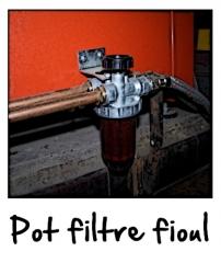 Le pot filtre fioul avec vanne d 'arrêt