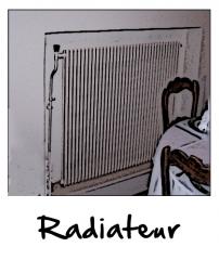 Un radiateur à eau chaude