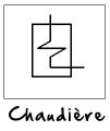 Symbole d'une chaudière