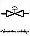 Symbole du robinet thermostatique
