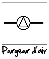 Symbole du purgeur d'air