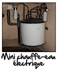 Un mini chauffe eau électrique sous évier