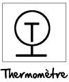 Symbole du thermomètre