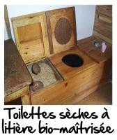 Exemple de toilettes sèches à litière bio-maîtrisée