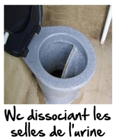 Exemple de Wc dissociant l'urine des selles